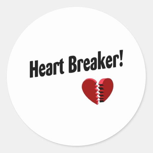 Heart Breaker! Classic Round Sticker