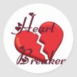 Heart Breaker Classic Round Sticker