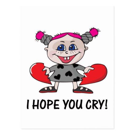 heart breaker hope u cry postcards