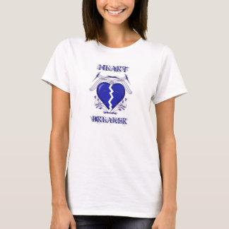 Heart Breaker: Ladies White T-Shirt: Heartbreaker T-Shirt
