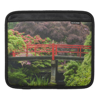 Heart Bridge with blossoming rhododendrons, Sleeve For iPads