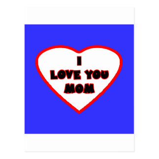 Heart Bright Blue Transp Filled The MUSEUM Zazzle Postcard