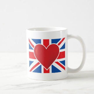 Heart British Flag Classic White Coffee Mug