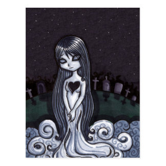 Heart Broken Ghost Postcard
