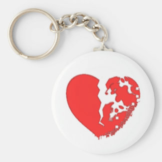 Heart Broken To Pieces. Designed on a keychain