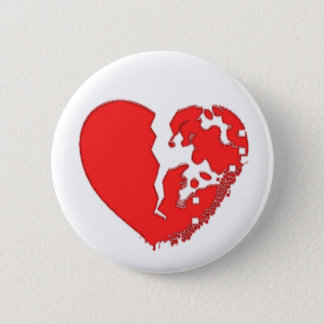 Heart Broken To Pieces. Designed on a pin
