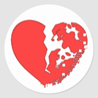 Heart Broken To Pieces. Designed on a sticker