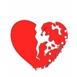 Heart Broken To Pieces. Designed on a tshirt shirt