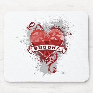 Heart Buddha Mouse Pads