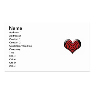 Heart Bullseye Business Card