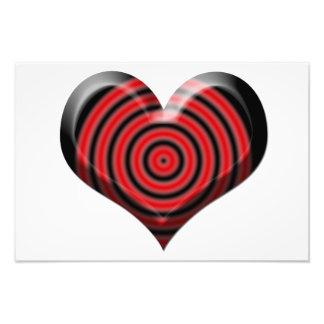 Heart Bullseye Photo Print