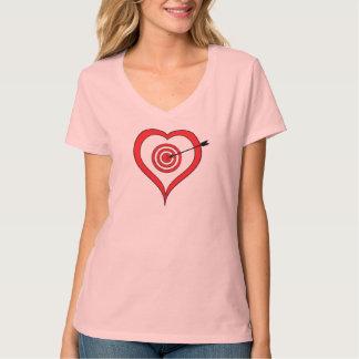 Heart Bullseye Valentine's T-Shirt