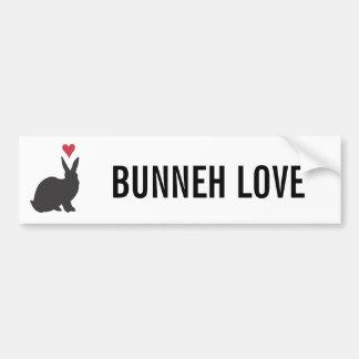 Heart Bunneh Car Bumper Sticker