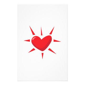 Heart Burst Customized Stationery
