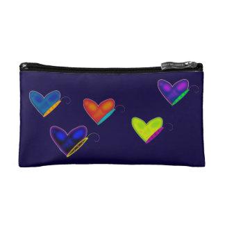 Heart Butterflies Cosmetic Bag