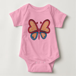 Heart Butterfly Baby Bodysuit
