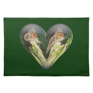 heart butterfly cloth place mat