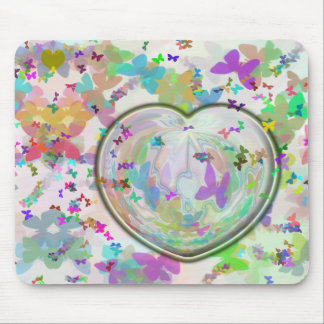Heart-Butterfly Mousepad
