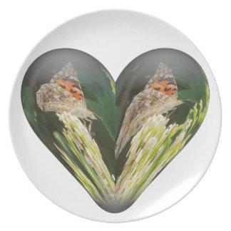 heart butterfly plate