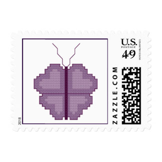 Heart Butterfly Postage Stamp