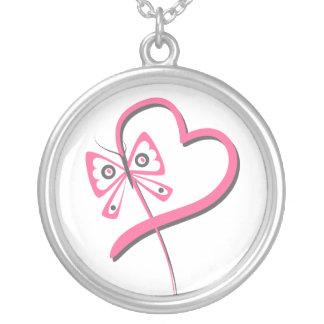 Heart Butterfly Ribbon - Breast Cancer Custom Jewelry