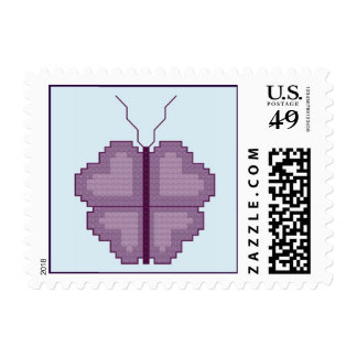 Heart Butterfly Stamp