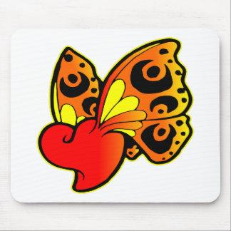 Heart Butterfly Tattoo Mousepads