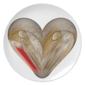 heart butterfly wing dinner plate