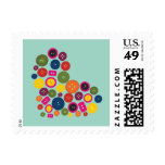 Heart Button Postage Stamp