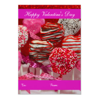 Heart Cake Pops Happy Valentine's Day To/From Card