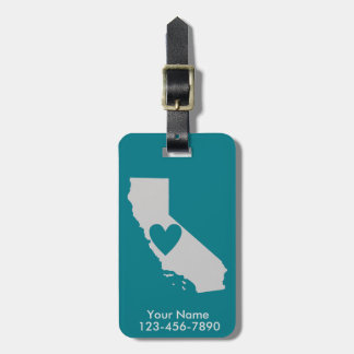 Heart California State Custom Luggage Tag