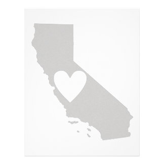 Heart California state silhouette Letterhead