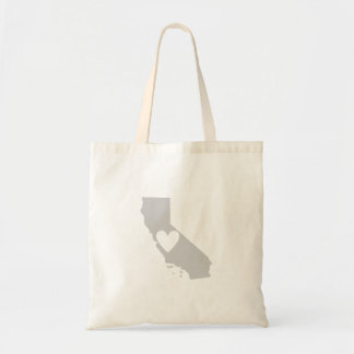 Heart California state silhouette Tote Bag