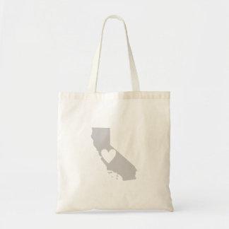 Heart California state silhouette Tote Bag