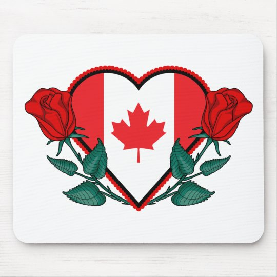 Heart Canada Mouse Pad