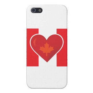 Heart Canadian Flag iPhone 5 Covers