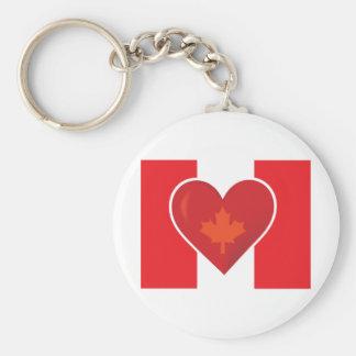 Heart Canadian Flag Keychain