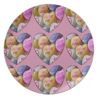 HEART CANDY IMAGES ON ITEMS DINNER PLATE