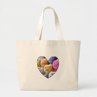 HEART CANDY IMAGES ON ITEMS LARGE TOTE BAG