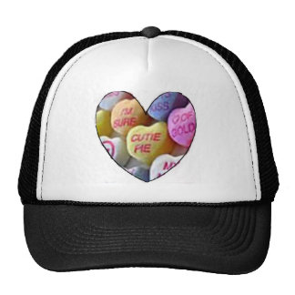 HEART CANDY IMAGES ON ITEMS TRUCKER HAT