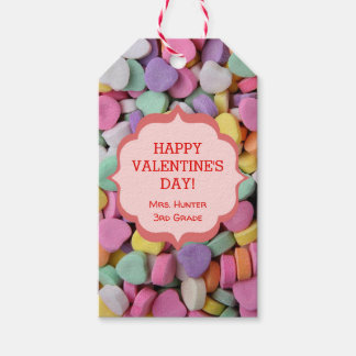 Heart Candy Pattern Personalized Gift Tags