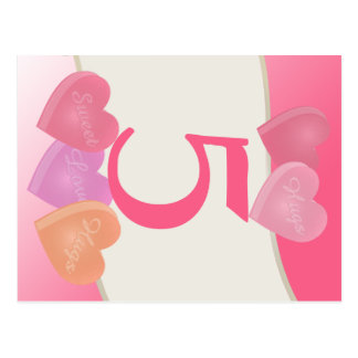Heart Candy Table Number Card
