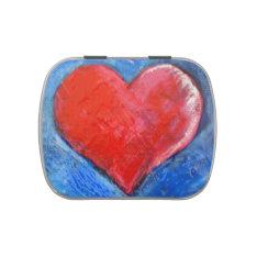 Heart candy tin at Zazzle