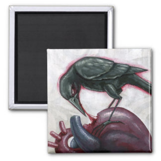 Heart Cannibal 2 Inch Square Magnet