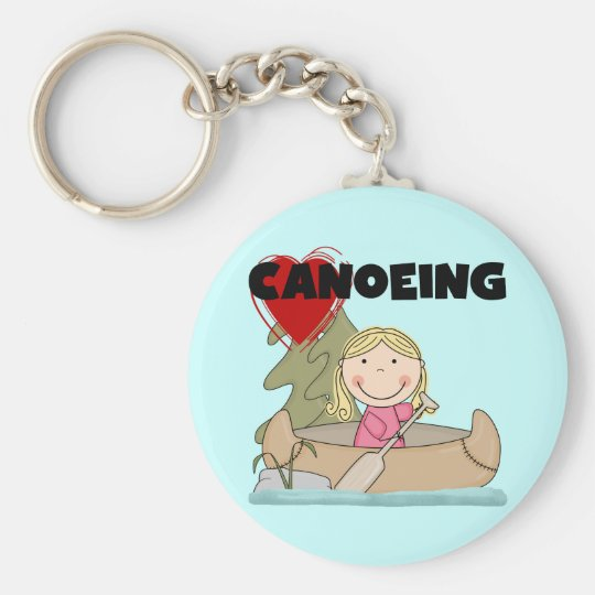 Heart Canoeing Tshirts and Gifts Keychain
