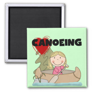 Heart Canoeing Tshirts and Gifts Fridge Magnets
