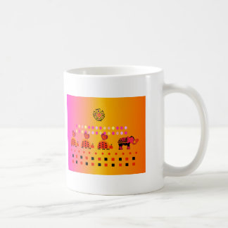 Heart Caravan w/ Background Coffee Mug
