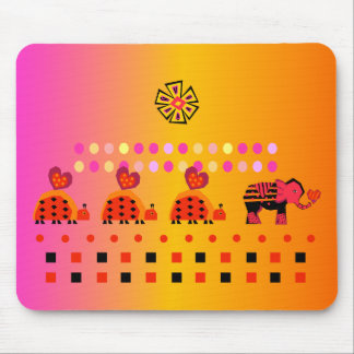 Heart Caravan w/ Background Mouse Pad