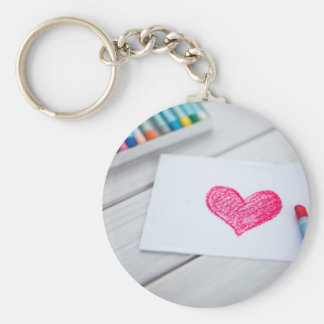 Heart Card Pastels Figure Valentine's Day Love Keychain