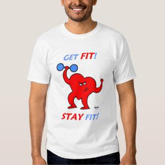 Heart Cartoon Fitness Cardio Workout Exercise Tee Shirt